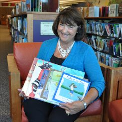Roxy Morgan displays her books at Carmel Clay Public Library (Submitted Photo).