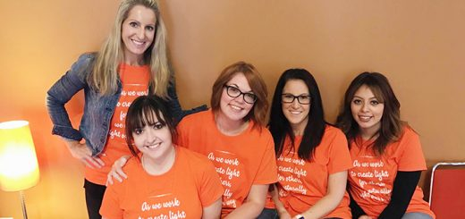 Christi Dee, director of pperations at Salon 01, Katy Spitler, guest services at Salon 01, and stylists Kim Daugherty, Morgan Howard and Sandra Montes at the Salon 01 Cut-a-Thon to benefit the National Multiple Sclerosis Society. (Submitted photo)