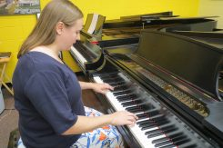 Natalie Todd displays the Taubman Approach at the piano. (Submitted photo)