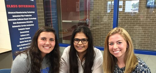 Olivia Kegley, Hana Ghoneima and Claire Haxton, members of the HSEF board. (Submitted photo)