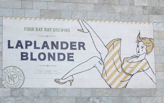 The Laplander Blonde advertisement on the side of Four Day Ray. (Submitted photo)