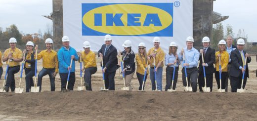 IKEA employees and city staff broke ground at the IKEA location southeast of I-69 and 116th Street. (Photo by Anna Skinner)