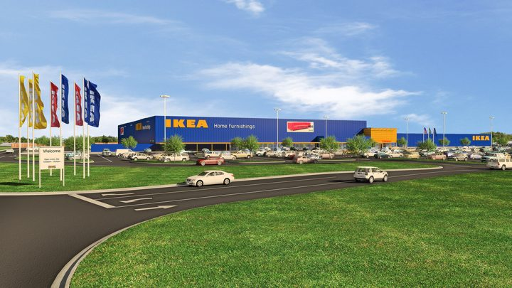 A rendering of the future Fishers IKEA. (Submitted rendering)