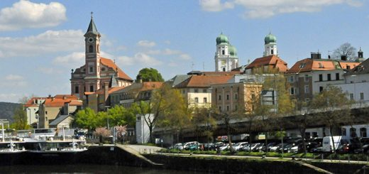 Passau, Germany, from Danube River. (Photo by Don Knebel)