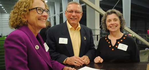 From left, State Rep. Donna Schaibley networks with Jim Ake (Westfield City Council Vice President) and Mary Ake.