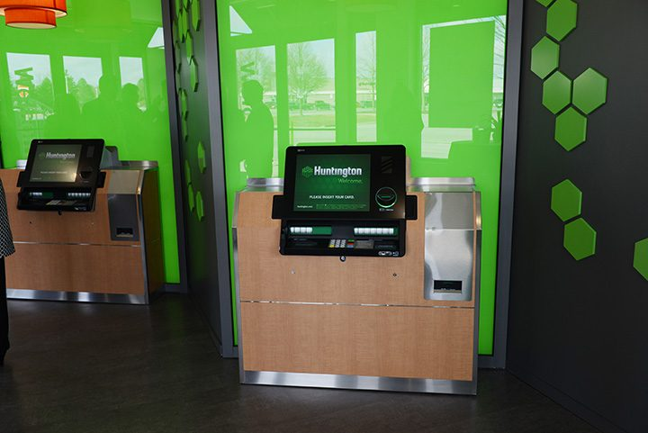 Inside Huntington Bank's Sophia Square location, which opened last year. (File photo)
