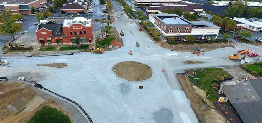 Work continues at Range Line Road and Carmel Drive, which could be the city's 100th roundabout. (Submitted photo)