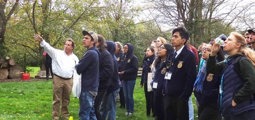 Jud Scott explains aerial rescue to FFA visitors. (Submitted photo)