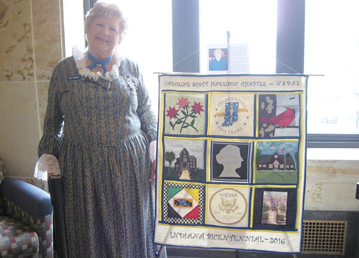 Kathryn Nickey displays her bicentennial quilt. (Submitted photo)