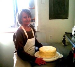 Suzanne Bruner makes an Italian cream cake. (Submitted photo)