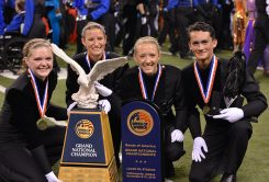 CHS marching band drum majors, from left, Alexis Noirot, Liz Hamilton, Caroline Heyl and Lio Krieger. (Submitted photo)
