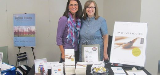 Authors Ann Kroeker, left, and Charity Singleton Craig attend a previous local author fair. (Submitted photo)