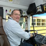 Brad Osborne fulfilled a longtime dream of working as a bus driver when he joined Carmel Clay Schools in 2015. (Photo by Theresa Skutt)