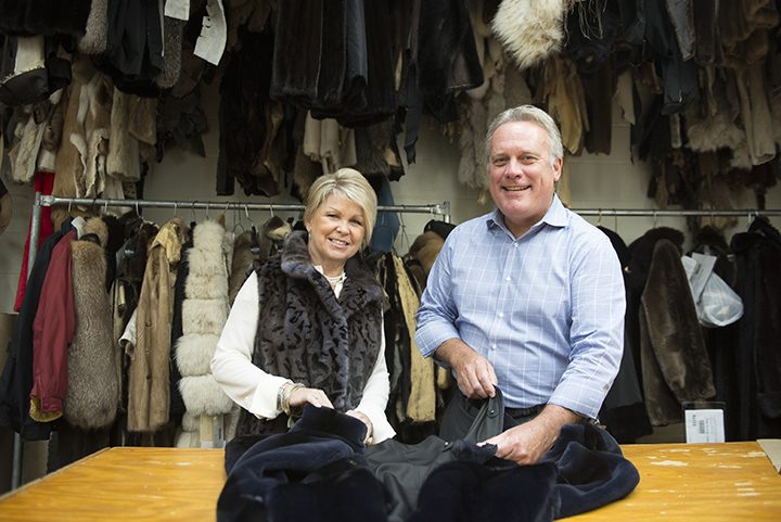 Ann and Kevin Day are celebrating the 35th anniversary of Day Furs, which has been in Carmel for 33 years. (Photo by Theresa Skutt)