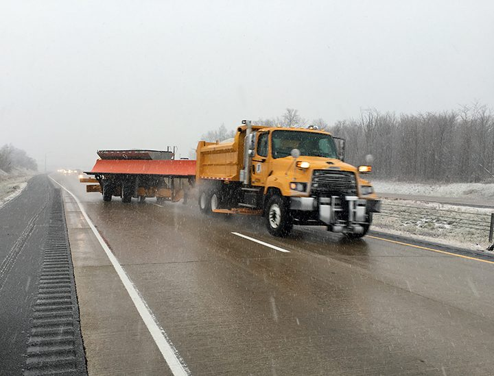 INDOT purchased 72 new trucks and 12 new tow plows for the upcoming winter season. (Submitted photo)