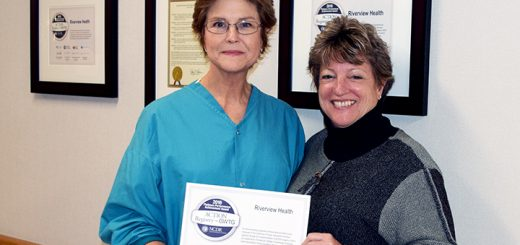 Riverview Health's Cardiac Cath Case Manager Kathy Scheidler, left, and Chief Nursing Officer Joyce Wood. (Submitted photo)