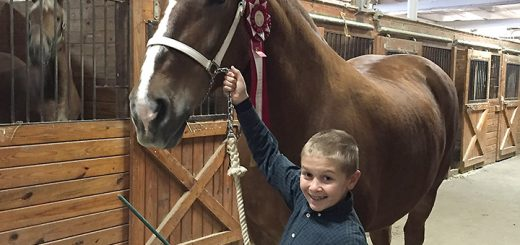 Ezra Tolan with his horse. (Submitted photo)