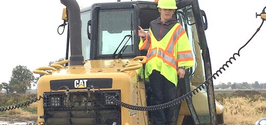 Alexander Boeckmann visited various construction sites through the county Oct. 20. (Submitted photo)