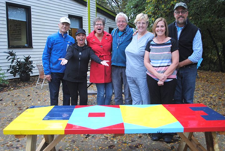 The Westfield Arts Alliance crew, from left, Mic Mead, Teresa Skelton, Sharon Rice, Chris Blice, Kate Hinman, Linda Lutes and Jon Edwards.
