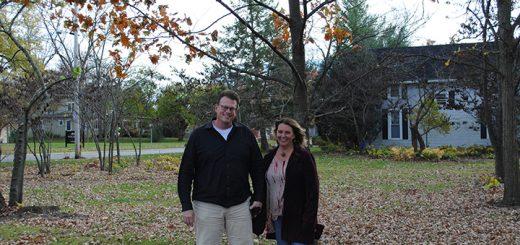 Matt and Teresa Skelton at their wedding tree. (Photos by Anna Skinner)