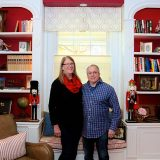 The largest year for the holiday home tour Carol and Bruce Lockhart will open their home to guests. (Photo by Sadie Hunter)