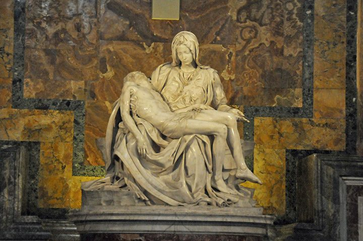 Michelangelo's 'Pieta' in St. Peter's Basilica. (Photo by Don Knebel)
