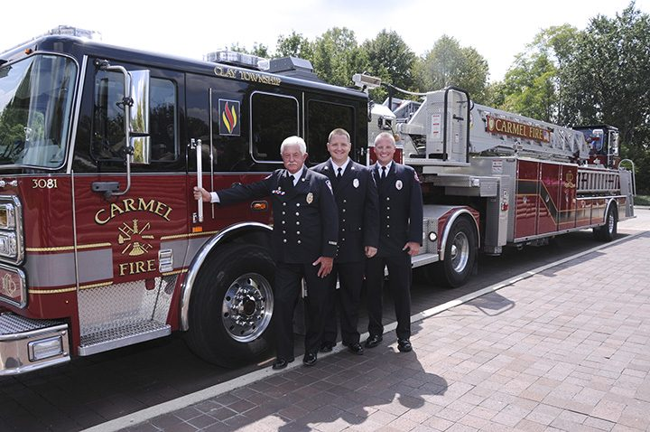 From left, Darrell, Jeremy and Jason Maners are all firefighters. (Submitted photo)