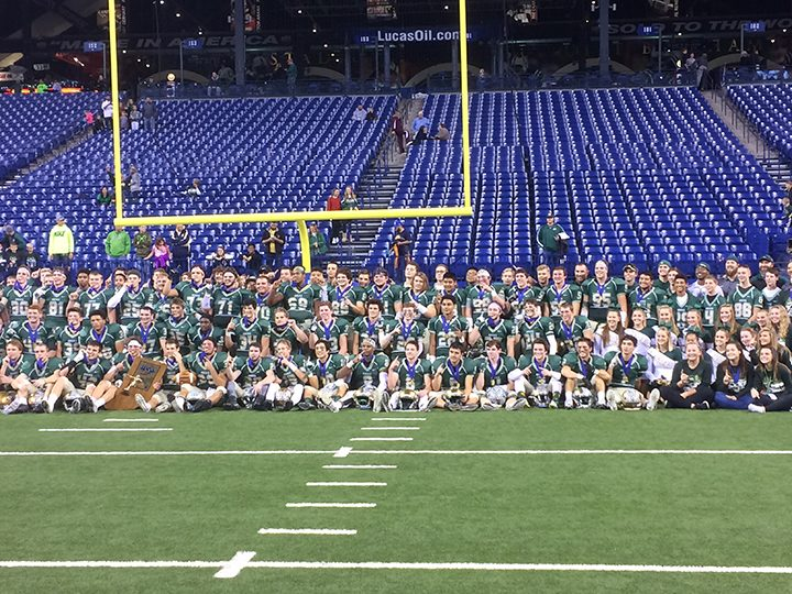 The Westfield High School football team won the Class 5A state championship game Nov. 26. (Photo by Mark Ambrogi)