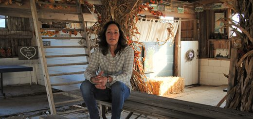 Lisabeth Armstrong in the barn at Thornwood Farms. (Photo by Anna Skinner)