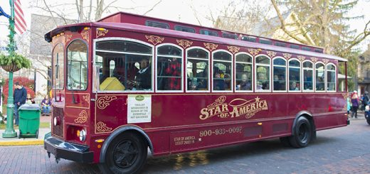 Guests enjoyed trolley rides through downtown Zionsville.