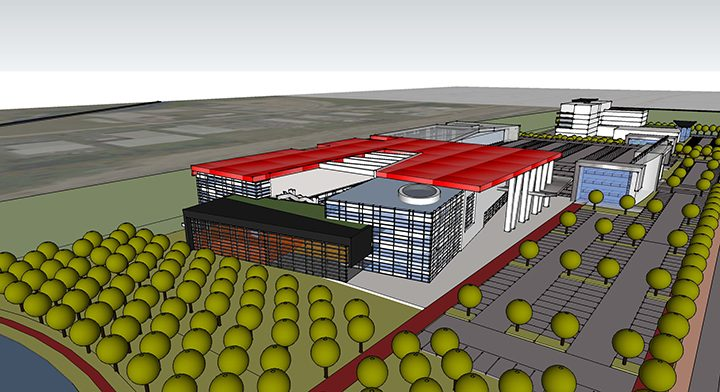 The concept plan for the proposed Grand Millennium Center.