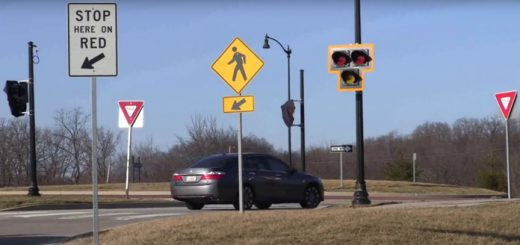 A new traffic metering system at 136th Street and Keystone Parkway includes lights that will trigger when a long backup is detected. (Screenshot from City of Carmel video)