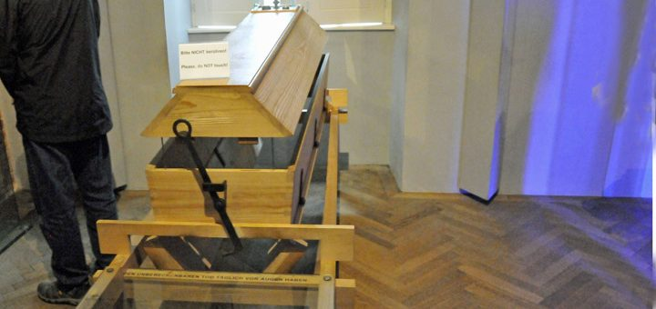 Reusable Coffin in Melk Abbey (Photo by Don Knebel)