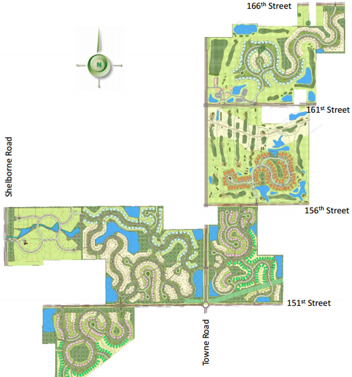 The Wood Wind Planned Unit Development was granted a continuance to allow for a presentation of a new product at the April 17 advisory plan commission meeting. Currently, the proposal is 730 acres of single-family, amenity and golf-course uses. (Submitted image)
