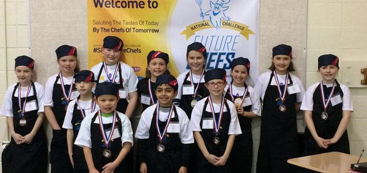 Students participate in the Future Chefs competition. From left, Layla Penley, Clara Nonte, Adam Baker, Lucas Weber, Kate Alexander, Sage Knott, Shayan Amin, Addison Stigler, Jenna Berry, Kendall Omer, Anna McKeown and Ashlyn Michael.