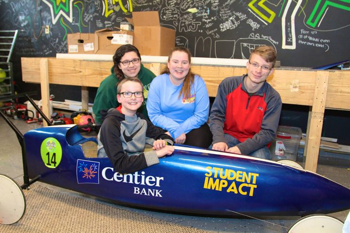 Student Impact participated in the Grand Junction Derby this year. Back, from left, Adrianna Avila, Shea Eggleston and Alexander Lee. Front, Aidan Fruit.  (Photos by Sadie Hunter)