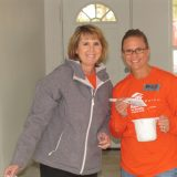 Liz Qua and Maggie Seiler at a Habitat for Humanity Boone County home build. (Submitted photo)