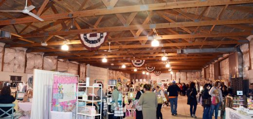 Fifty-five local vendors displayed handmade goods at Indy MADE Market on March 18 inside the Hamilton County Fairgrounds Llama Barn. According to the event co-founder, Keri Bishop, more than 200 pre-sale tickets were sold and many more tickets were sold at the door. Nearly 1,000 people including vendors and volunteers were in attendance. Ticket sales benefited the Noblesville Youth U-11 Baseball Team, with excess profits going back to the community through other charities. (Photo by Sara Baldwin)