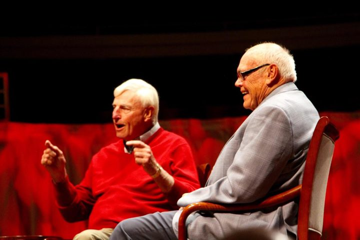 ND-0411-Bobby Knight and Gene Keady at the Palladium3