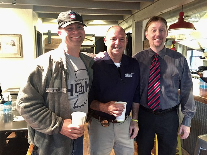 From left, military veteran Capt. Jason Straw, Det. Lt. Brodie Houston and Jim Vitou. CIW-COM-0516-Cop2