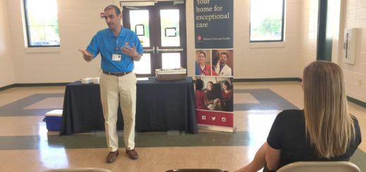 Dr. Gaurav Arora speaks at the first event on June 7. (Submitted photo)