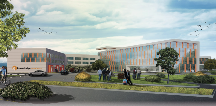 Knowledge Services' new, $17M headquarters will break ground on construction next year, and the company could move to the site as early as 2019. (Submitted image)