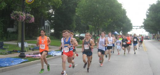 Freedom Run participants run near the Carmel Arts & Design District. (Submitted photo)