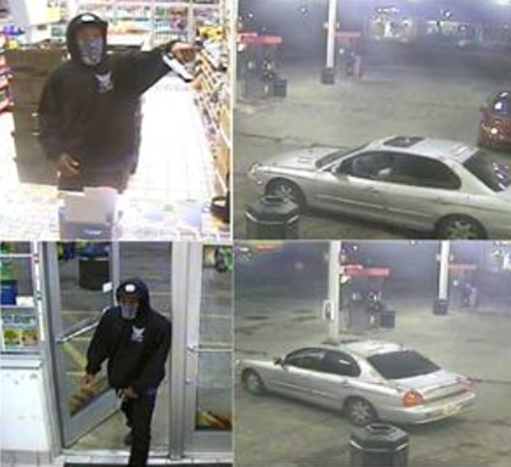 Police are searching for a suspect who pointed a gun at a Speedway clerk and stole the Riley Kids donation jar. (Submitted photo)