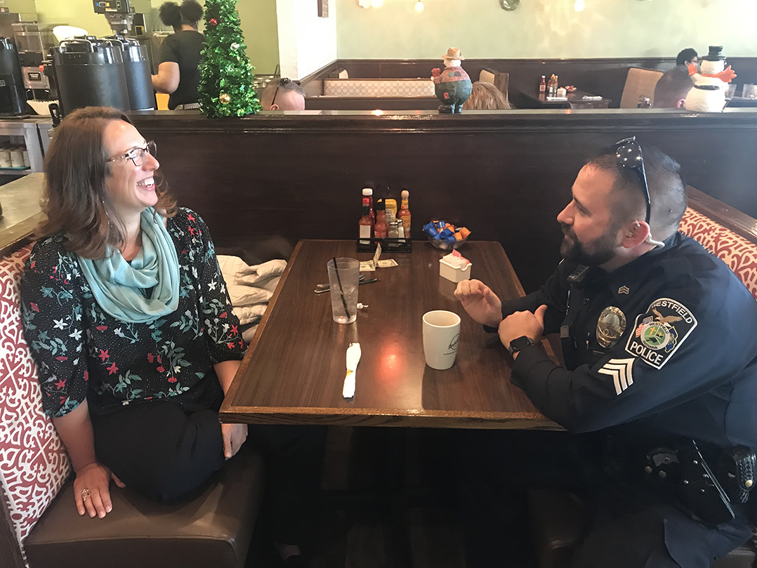 Snapshot Westfield Police Dept Holds Coffee With A Cop Meet And