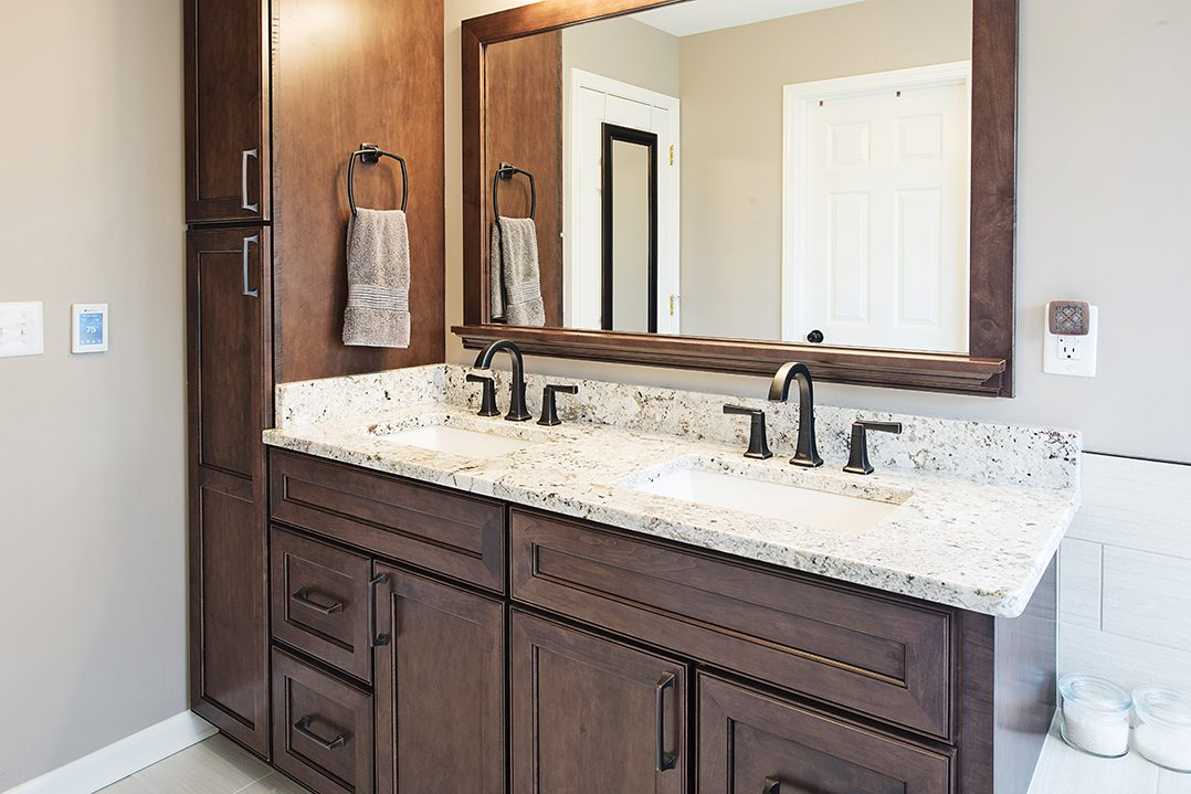 Incroyable The Goal For The Master Bathroom Remodel Was To Get Better Utilization Out  Of The Floorplan, While The Goal Of The Laundry Room Was To Find A Solution  To ...