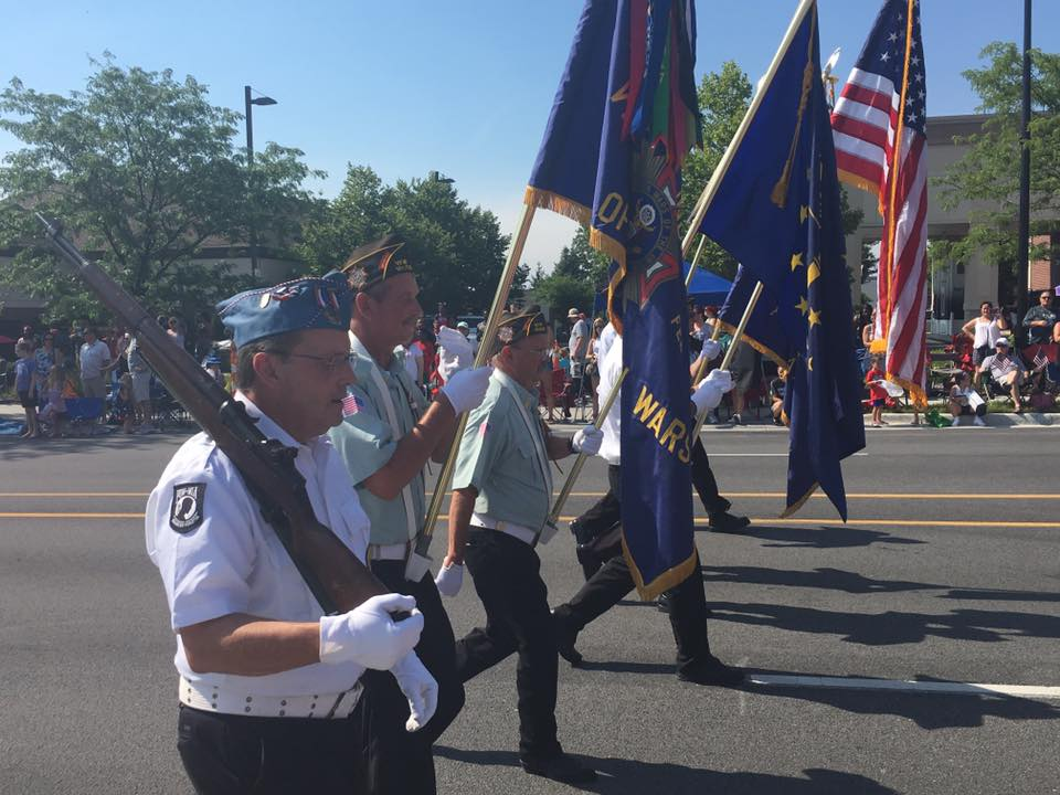 Members of the Carmel VFW march in the 2017 CarmelFest parade. (Sub- mitted photos)