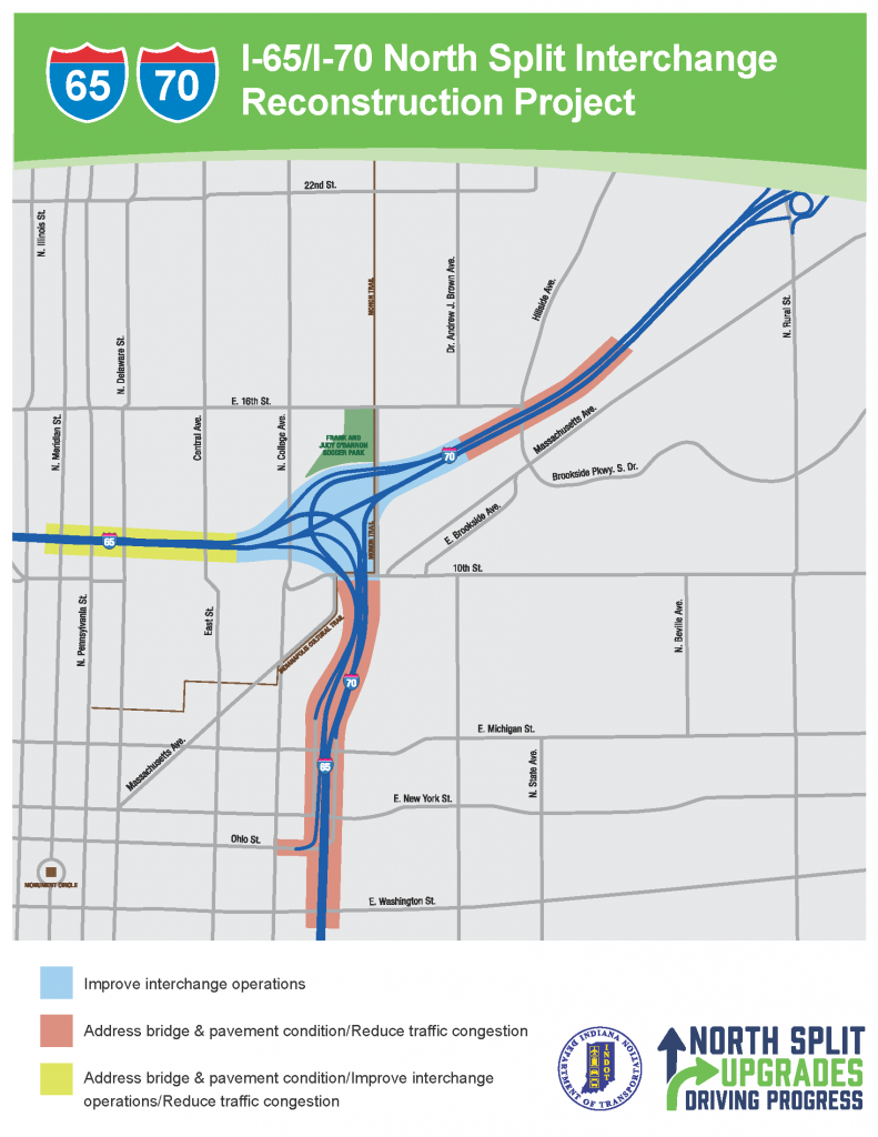 Commuters ask INDOT to rethink plans for I-65, I-70 ... on ahtd road conditions map, txdot road conditions map, wydot road conditions map, idot road conditions map, weather road map, toll road map, kdot road conditions map, arizona state highway road map, road closure map, modot road conditions map, cdot road conditions map, indiana road map, mdt road conditions map,