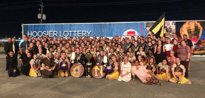 This is the second year the Marching Millers have been champions at the Indiana State Fair Band Day. (Submitted photo)