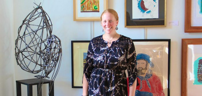 Nickel Plate Arts Executive Director Aili McGill pauses in the Judge Stone House Gallery on the nonprofit's campus in downtown Noblesville. (Photos by Sadie Hunter)